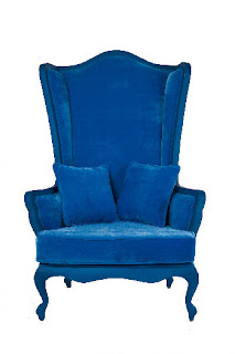 oversized blue chair
