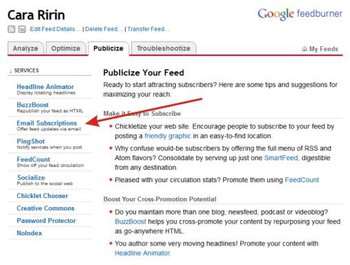 Kotak Subscribe Keren untuk Blog Website