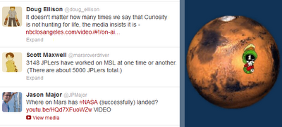 Mars Curiosity on Twitter