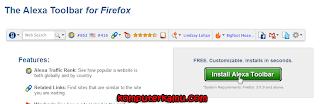 Klik install alexa toolbar di website alexa