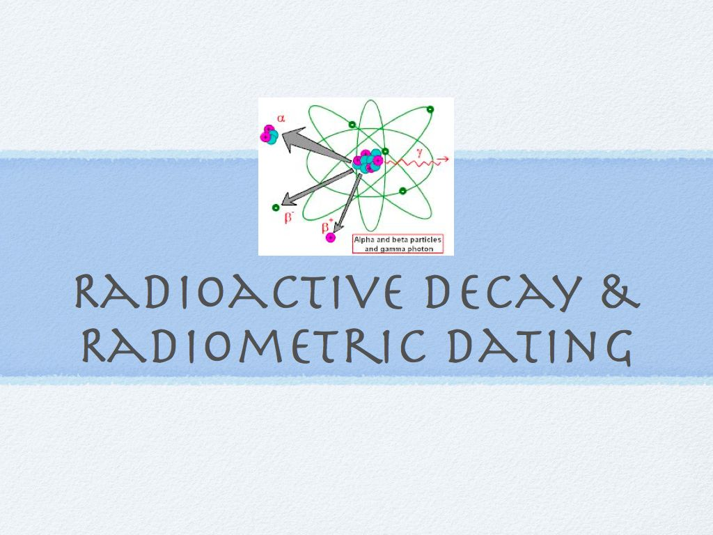 definition radioactive dating