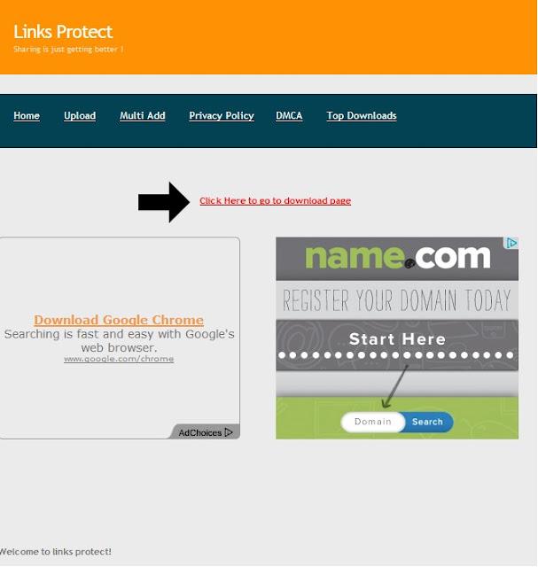 شرح التحميل من موقع Links Protect
