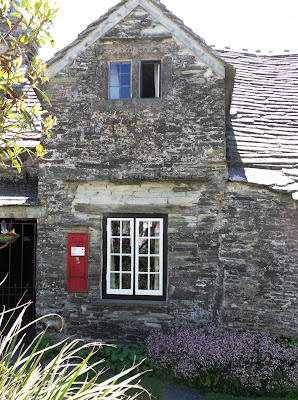 Old Post Office with red box Tintagel Cornwall
