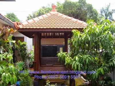 Tukang Taman Surabaya saung flamboyanasri