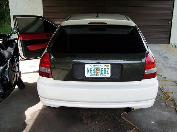Additionally We Added A Carbon Fiber Hatch Eliminated The Cats Ran Custom 25 Exhaust Into Apexi Turbo Style Muffler And Spoon Spoiler: 1998 Honda Civic Hatchback Exhaust At Woreks.co