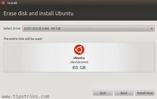 langkah keenam instal ubuntu