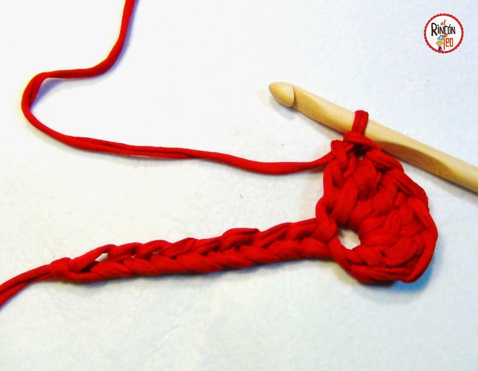 El Rincón de Teo: Cómo hacer un Cesto de Trapillo en forma de ...