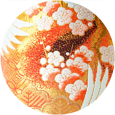 Plum Blossom vintage Kimono cushion by Hunted and Stuffed