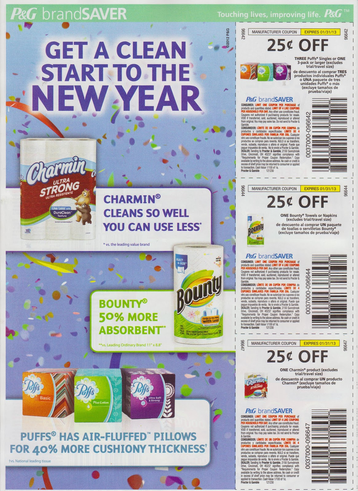 ... Coupon Inserts: SOLD OUT 12/30 Proctor and Gamble Whole Coupon Inserts