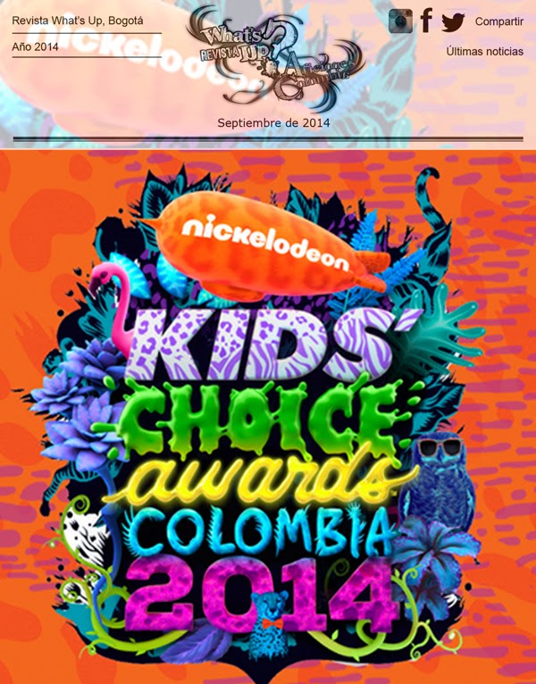 GANADORES- KCA-COLOMBIA-2014-PRIMERA-EDICIÓN-KIDS-CHOICE-AWARDS-2014