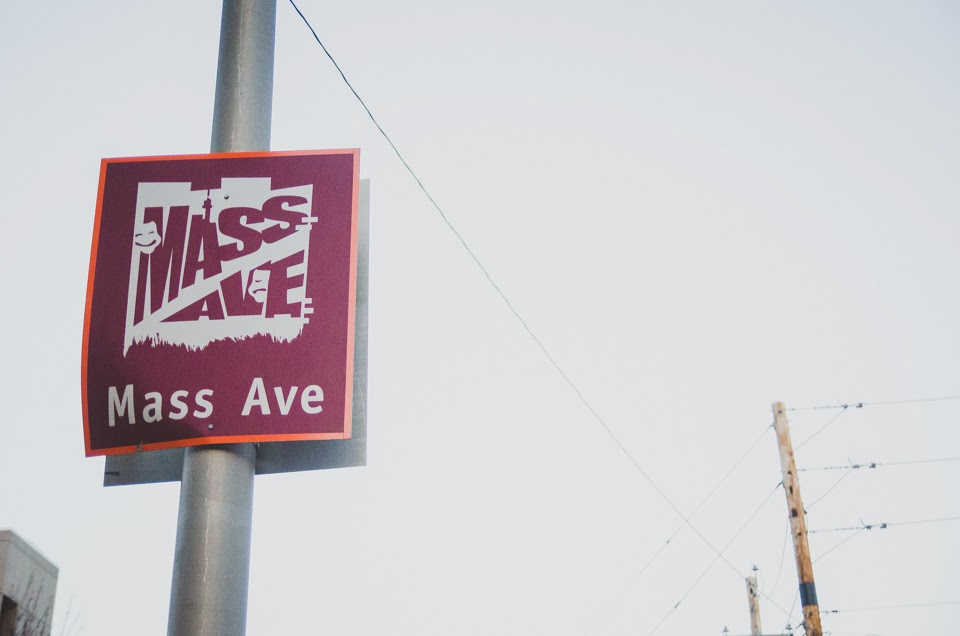 photograph of mass ave, indianapolis