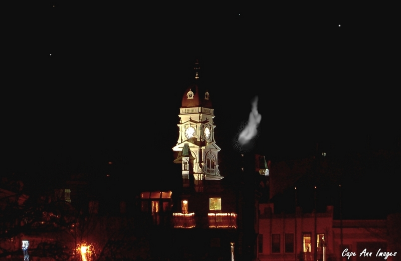 White smoke rises from City Hall !