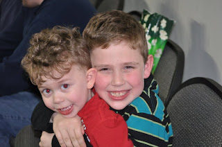 Grandsons Hayden and Jaxson