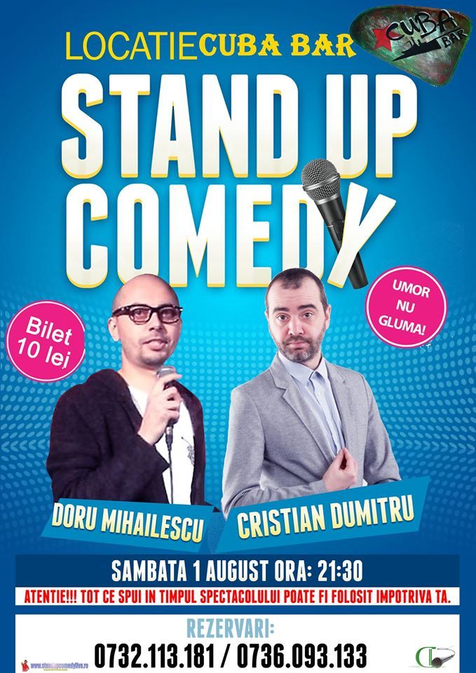 Stand-Up Comedy Sambata 1 August Constanta