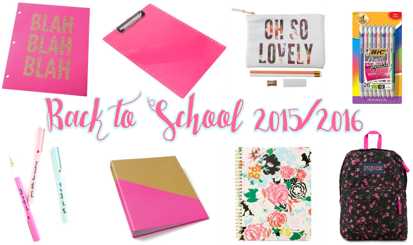 Fashionable Heart Girly Back to School Supplies for 20152016