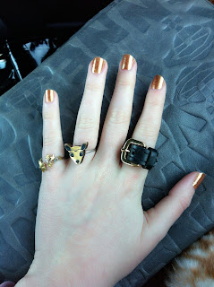 nail, manicure, gold, opi, ring