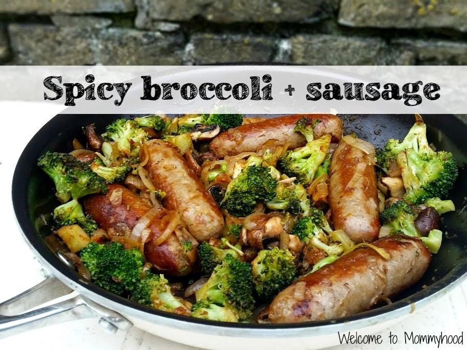 Easy, healthy recipes: spicy broccoli and sausage #Paleo, #EasyHealthyRecipes