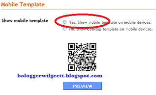Cara Setting Template Blogspot Untuk Mobile