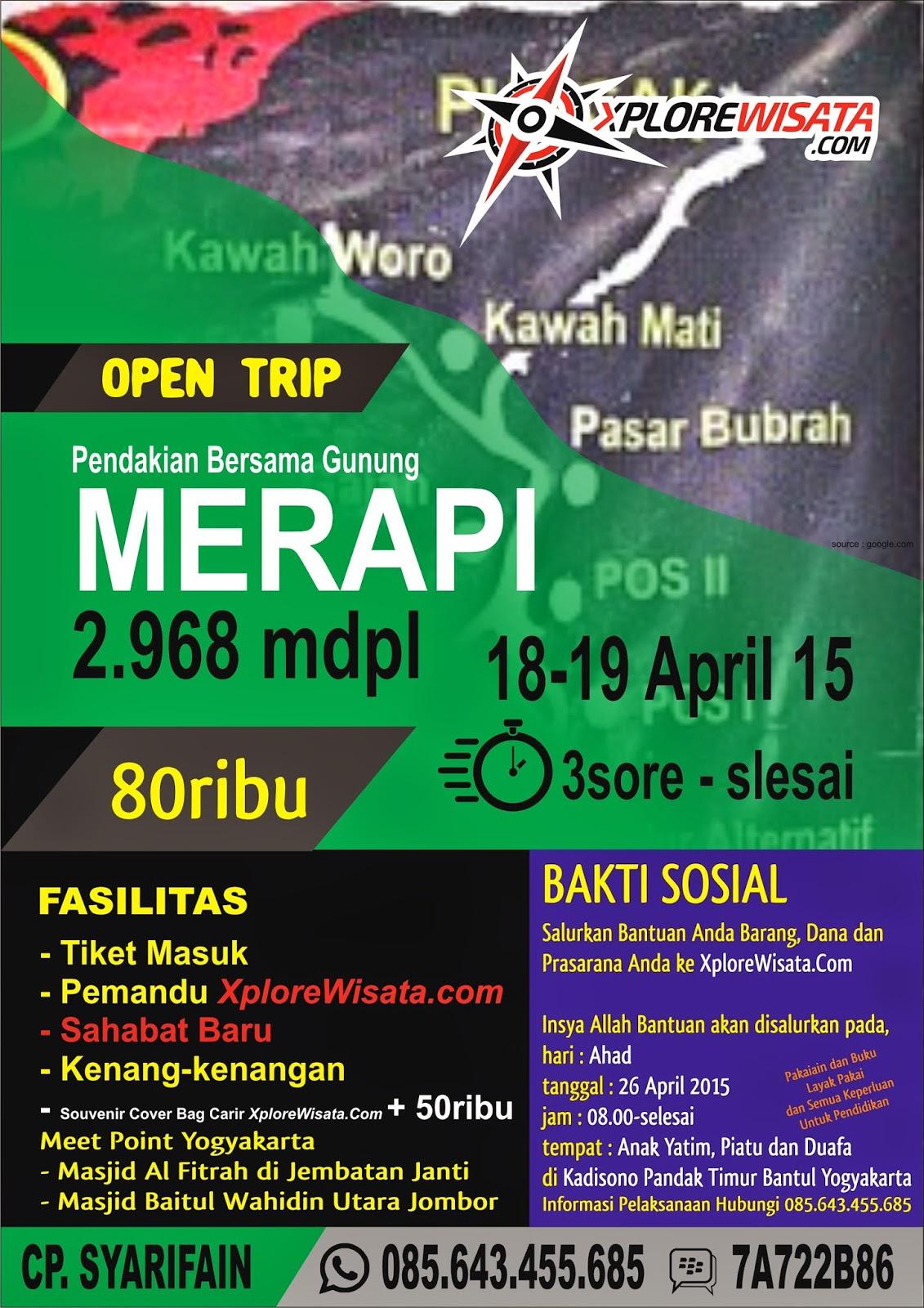 Open Trip Pendakian Gunung Merapi Ssbs Community Sahabat Dunia