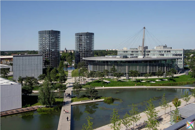 World largest car parking in Germany buildings infrastructure Garage Images strange architecture