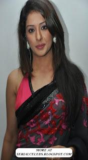 Sameeksha in low hip saree