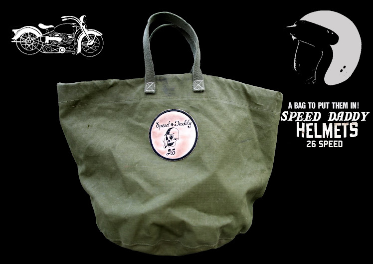 SPEED DADDY MC SMOKING SKULL HELMET BAG