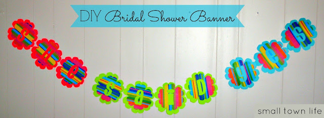 engagement banner, shower banner, photo prop