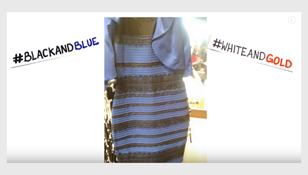 Is the dress color Black and Blue or White and Gold