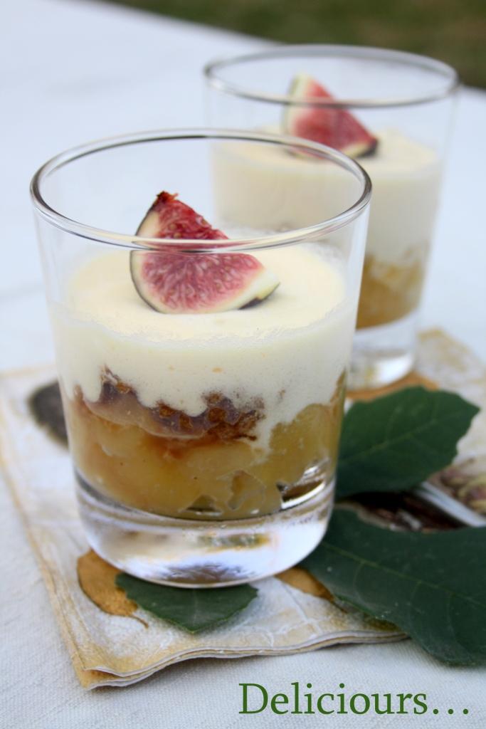 Deliciours verrines d automne nouvelle collection compote rustique de pommes sp culoos et - Verrine d automne ...