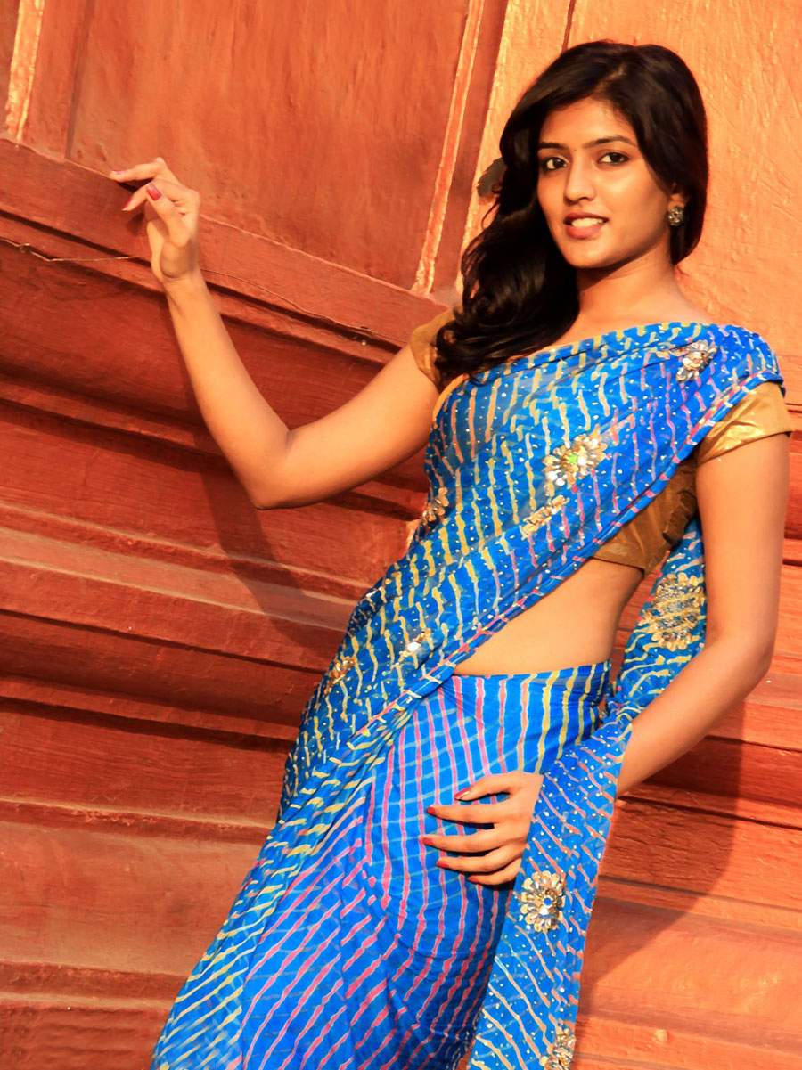 Eesha navel - South Actress Eesha hot photoshoot in saree