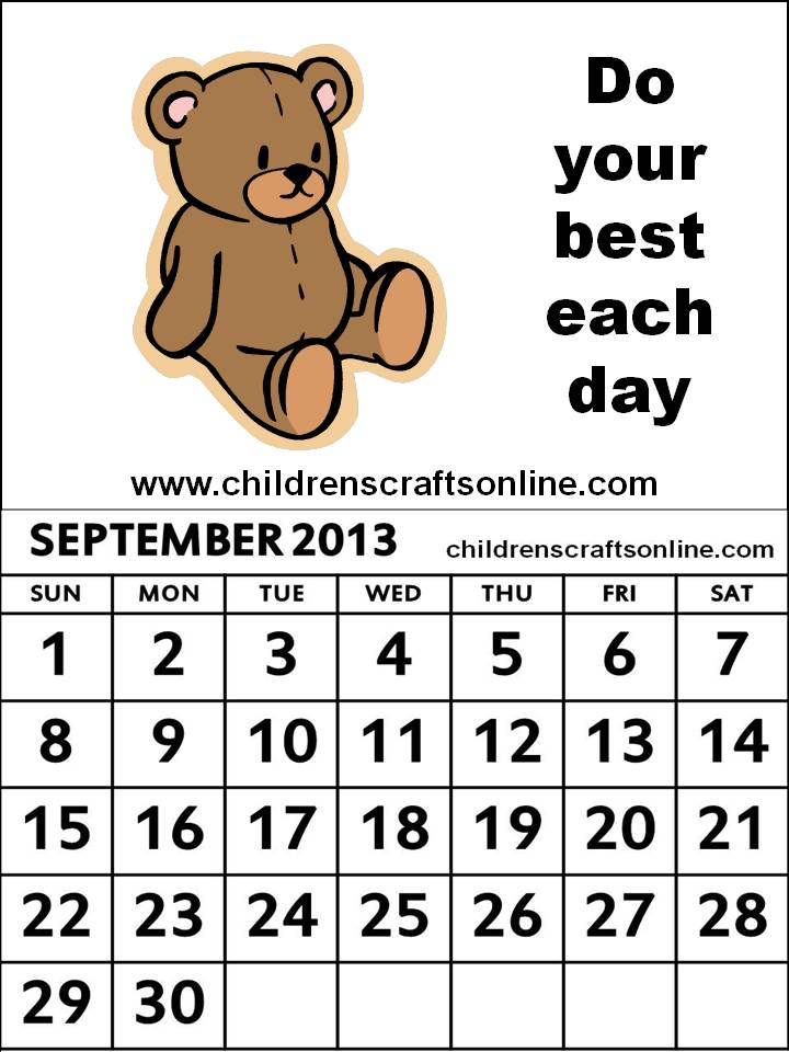 Displaying (19) Gallery Images For September Calendar Clipart...