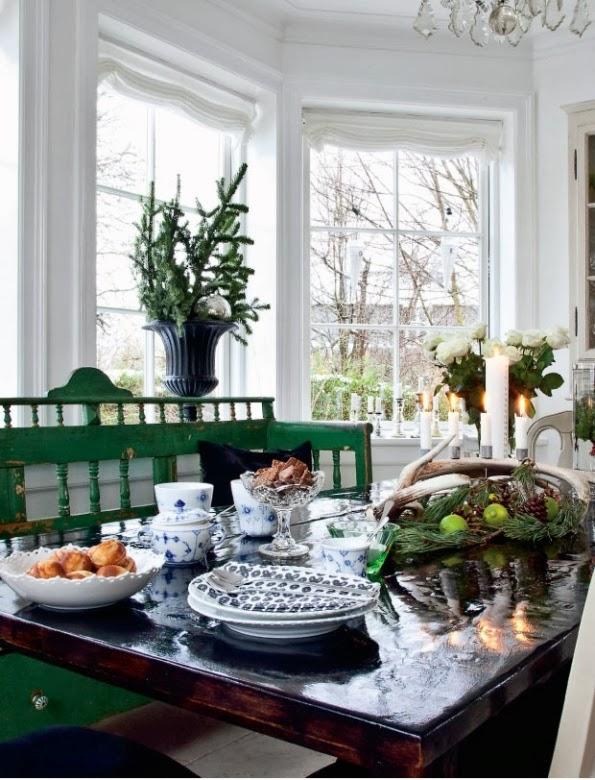 antiguo banco de cocina en color verde