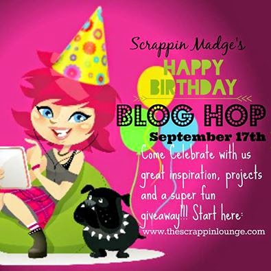 Scrappin Madge's Birthday Blog Hop