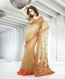 Latest ready pleated saree