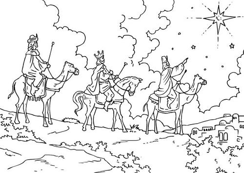 Dibujos y plantillas para imprimir reyes magos for Wise men coloring pages
