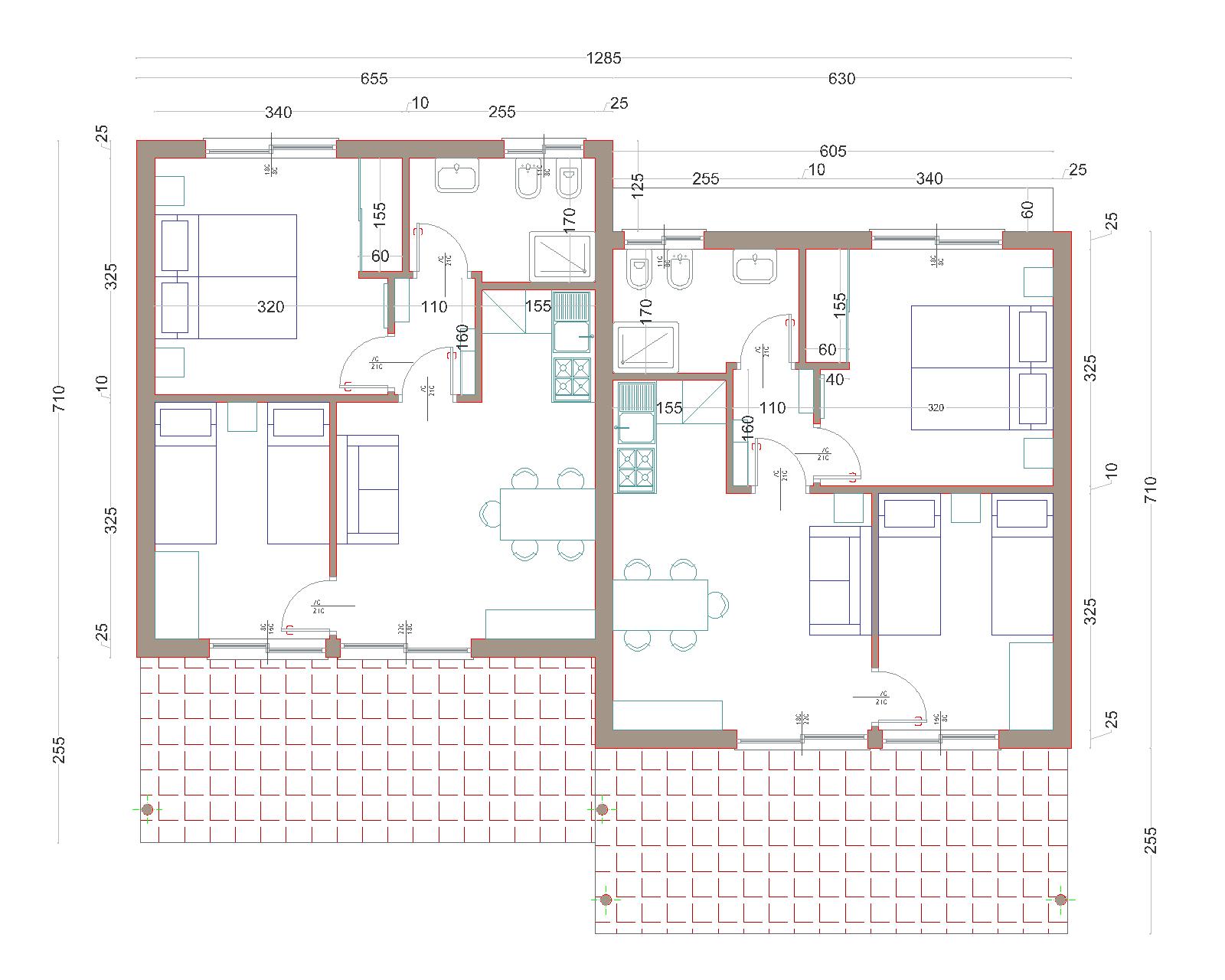 progetti di case in legno bungalow trilocale 47 terrazza