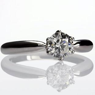 Diamante en anillo de compromiso