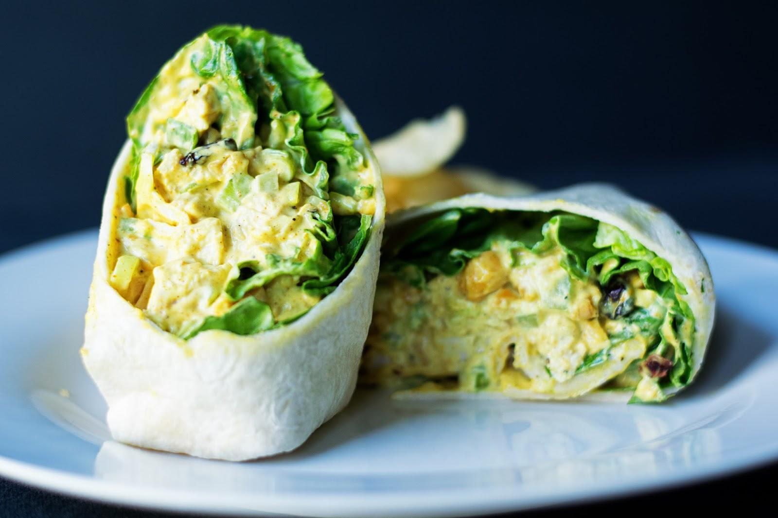 Curry Chicken Wraps Recipe — Dishmaps