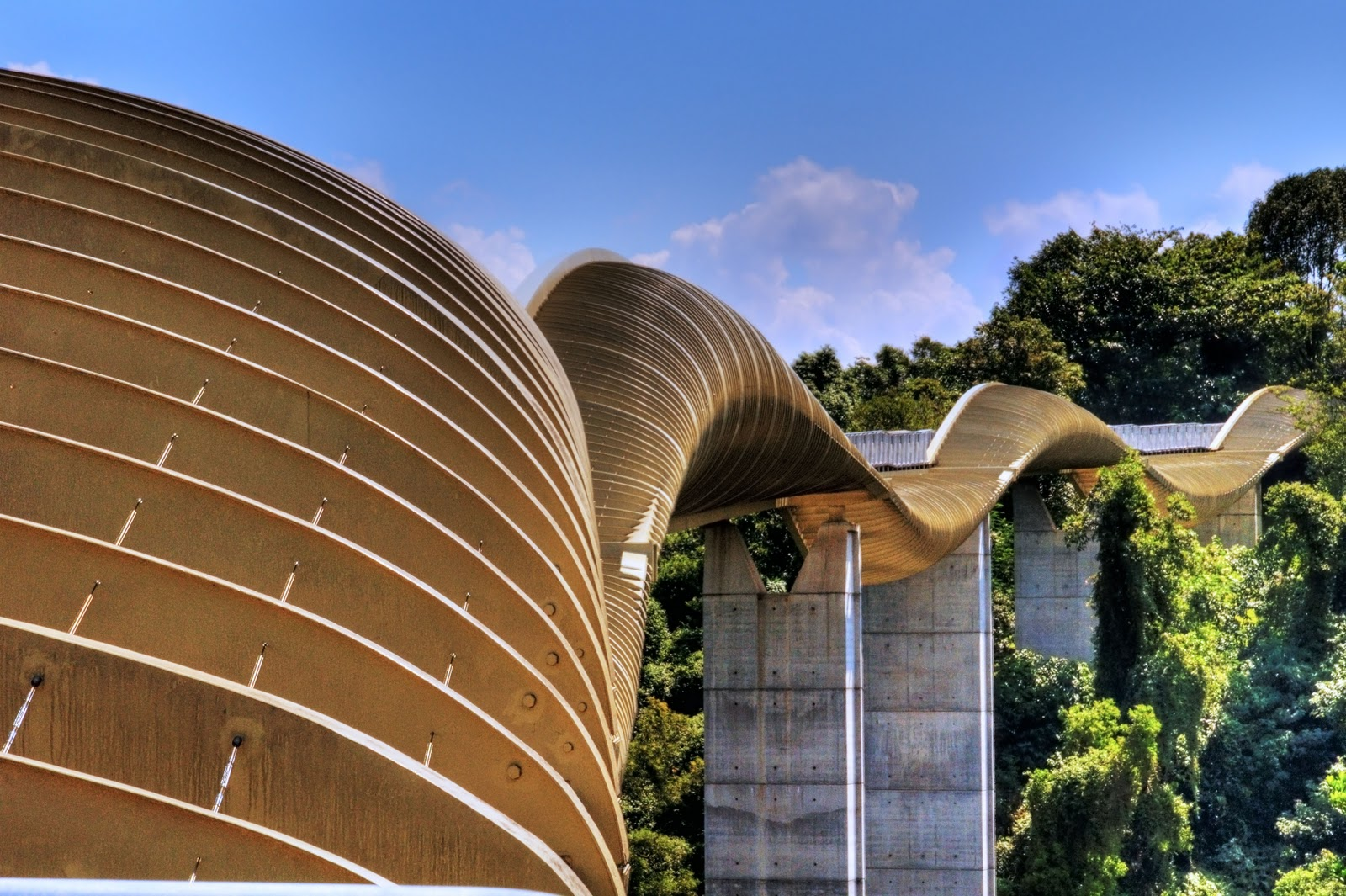 Life around us henderson waves most beautiful pedestrian for Design bridge singapore