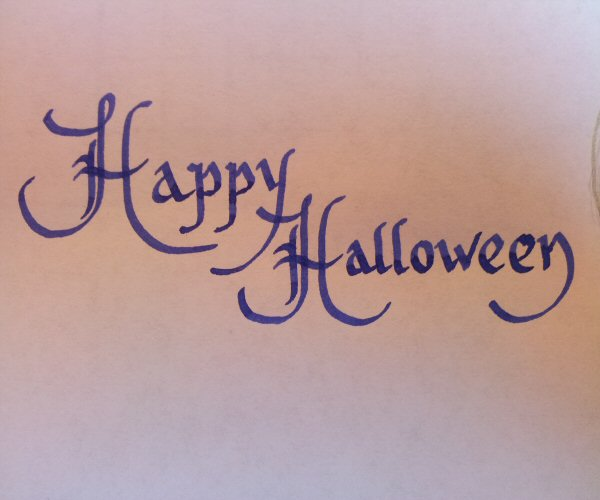 Calligraphy for beginners halloween