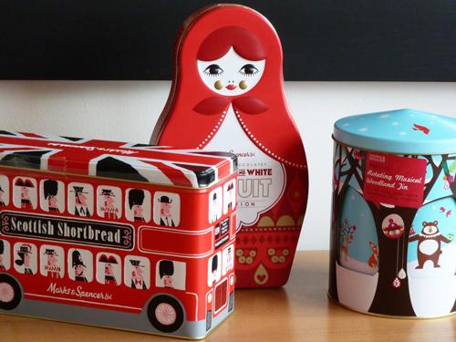 gumo gazette: Marks & Spencer Christmas Biscuit Tins