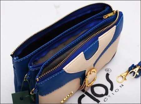 jual dompet wanita korea murah biru tua bagian dalam