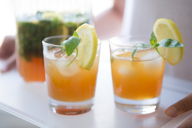 Toast With This!: Ginger-Tea Lemonade with Basil