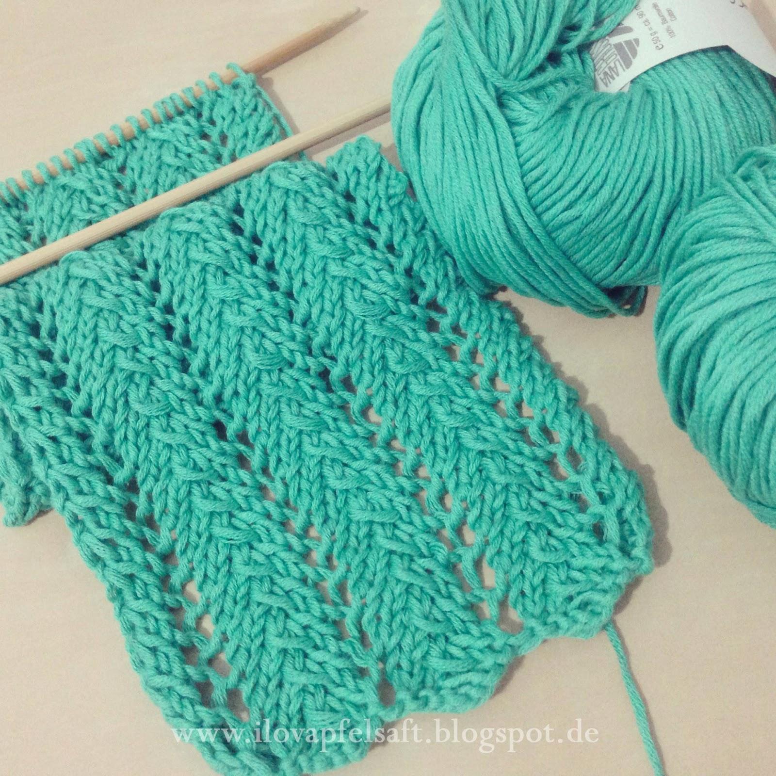 Knitting Stitches Yfwd : Ilovapfelsaft: Lace Knitting Pattern