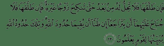 Surat Al-Baqarah Ayat 230