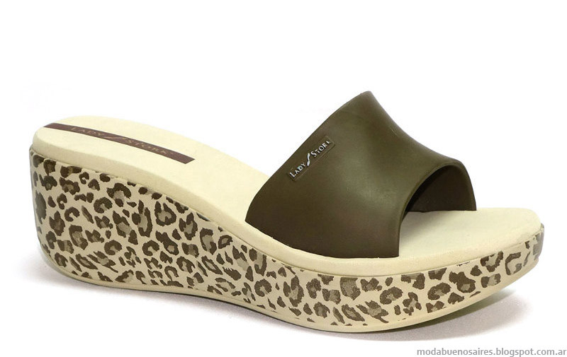 Ojotas Lady Stork 2015 animal print moda 2015.