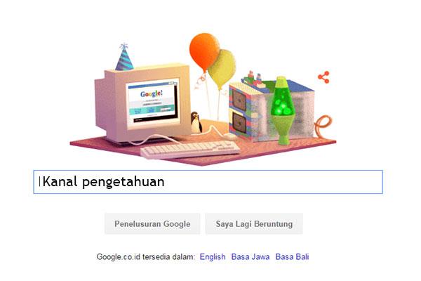 ulang tahun Google 17
