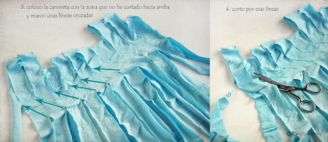 cómo hacer trapillo con camiseta