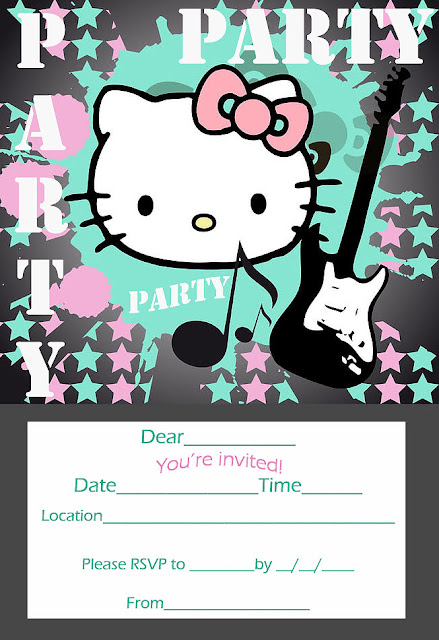 hello kitty invitations printable free