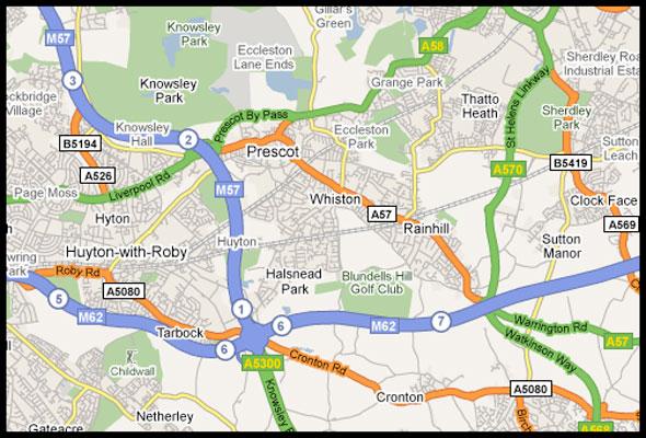 Street map of merseyside